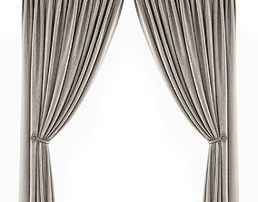 Curtains beige 2 3D model