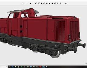 German V100 Diesel Locomotive fully 3D-printable Hi-Poly