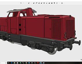 German V100 Diesel Locomotive fully 3D-printable