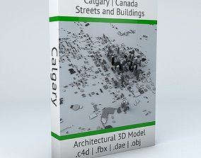 3D Calgary Streets and Buildings