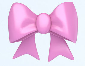 3D asset PINK BOW icon