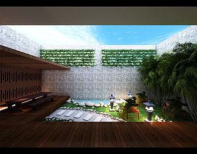 3D model zen garden design