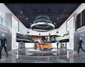 3D asset Model of automobile exhibition hall