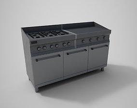 Kitchen Stove 3D model realtime