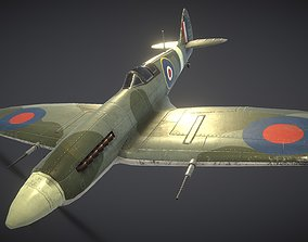 3D asset game-ready Supermarine Spitfire
