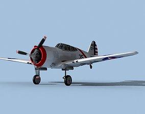 Curtiss P-36C Hawk V04 USAAF 3D