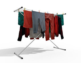 3D model Laundry rack for drying washing