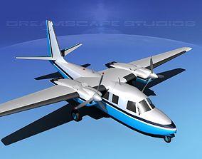 Rockwell Aero Commander 560 V03 3D model
