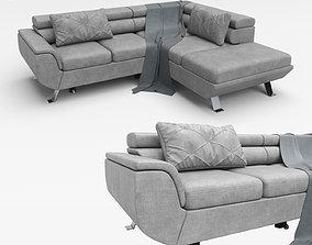 3D Corner sofa convertible chaise longue PHOENIX