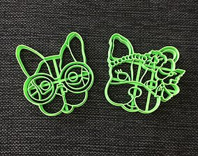 3D print model Simones Dogs - Pack x 2 Cookie Cutter