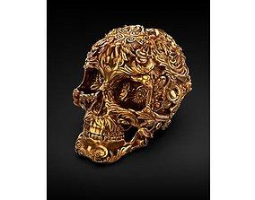 Skull Death Head 3D Print file Digital 3D STL OBJ FBX
