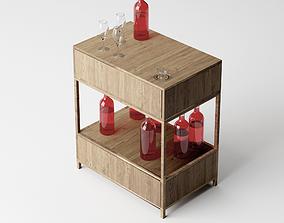 Wine Sidetable - Living Room Furniture 02 3D model