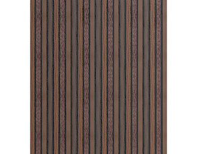 Dark Wood Wall Panel 3D model