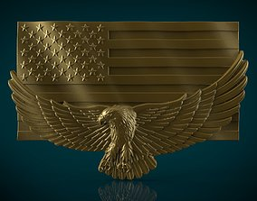 American Flag and Eagle country 3D printable model