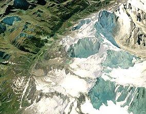Mountain landscape Alps 3D model