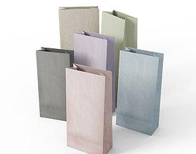Candy Bag Pastel colored - Simple Paper Bag 3D model