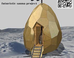 3D asset Solar Egg Sauna
