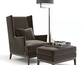 3D model Sofa and Chair Blake Armchair