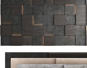 Decorative wall panel set 54 3D model