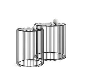 3D side table WIRE Kare Design 2-set