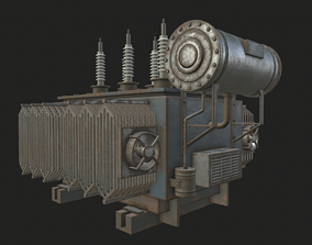 HQ PBR Power Transformer 3D asset