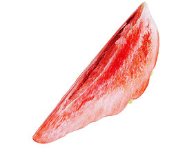Strawberry slice 3D model