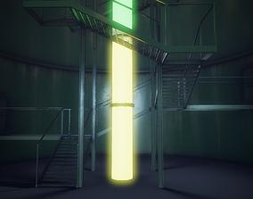 3D asset Modular underground military base