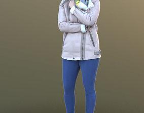 Rocio 10296 - Standing Winter Woman 3D asset