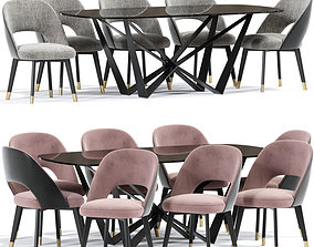 Baxter Colette Dining Chair Table 3D