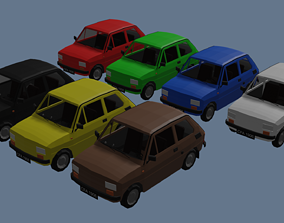 3D model Low Poly Interactive Fiat 126p
