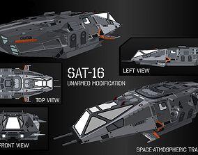 3D model Space-Atmospheric Transport SAT-16 Unarmed