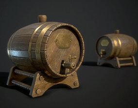 3D asset Old Cask