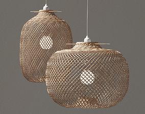 Laki Bamboo Pendant Light Shade 3D