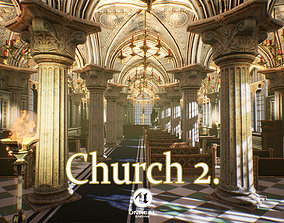 3D asset Church 2 Unreal Engine