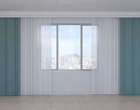 curtain-tulle 3D asset