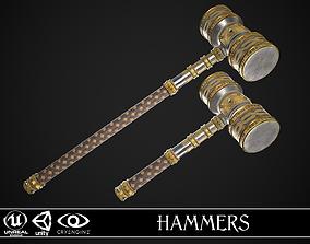 3D model Fantasy Hammers 01