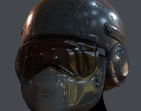 game-ready Gas mask helmet 3d model 4
