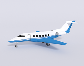 3D model Low Poly Pilatus PC-24 Aiplane Jet