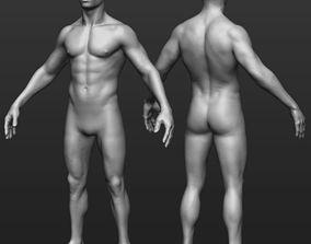 Hi res Male body model 3D
