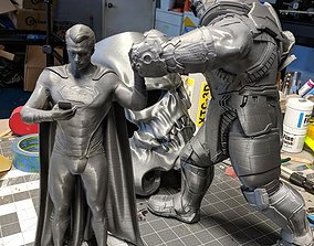 3D print model Superman Vs Thanos STL