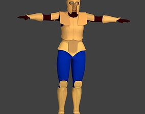 3D asset Simple Armored Female Character