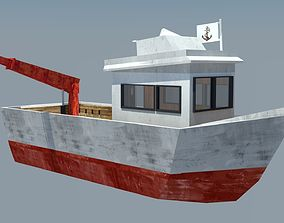 Fishing Vessel 3D model realtime