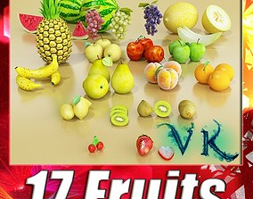 3D 17 Fruits Collection High Res Textures