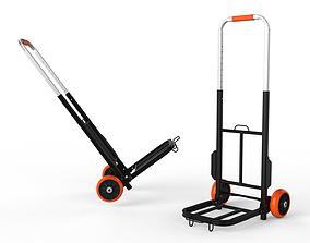 Cart Storage Orange 3D