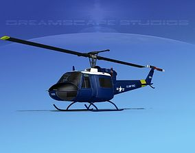 Bell UH-1B Iroquois V09 US Air Force 3D model