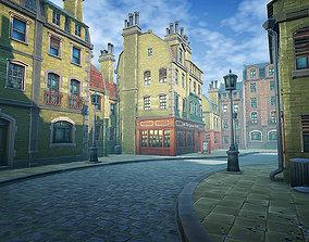 3D asset Stylized Town