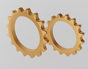 3D model Minimal gears symbol