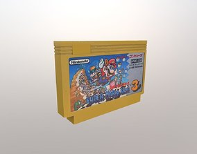 Famicom game cartridge 3D model
