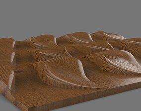 3D model geometrical leaf relief