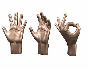 Male Hand 3 poses 3D printable model
